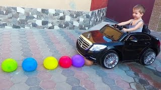 Learn Color Driving Mercedes S Class Electric Car For Kids