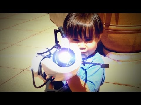 3 Year Old With A Real Portal Gun