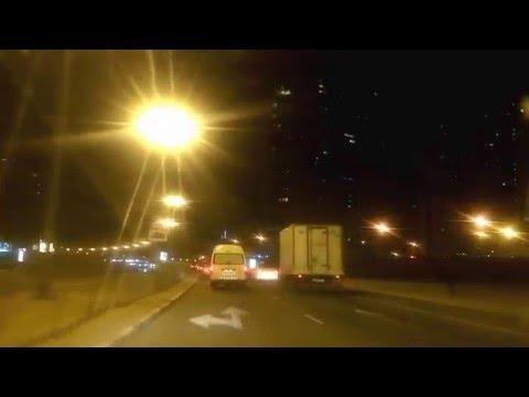 Dubai & Sharjah - Night Video - Al Nadha St (Sharjah) to Abu Baker Al Siddique Road (Dubai)