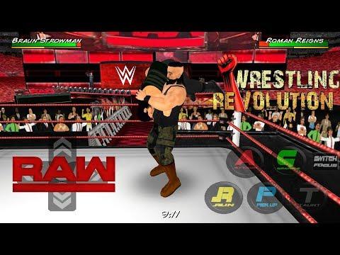 Brown Strowman Returns And Attack Samoe Joe And Roman Reigns - WRESTLING REVOLUTION 3D #1