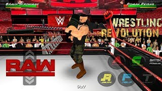 Brown Strowman Returns And Attack Samoe Joe And Roman Reigns - WRESTLING REVOLUTION 3D 1.63 MB