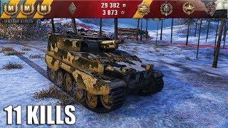 """FV304 ЗАКИДАЛ 11 ФРАГОВ. Заполярье - """"Бодрая"""" арта фв304 лучший бой World of Tanks."""
