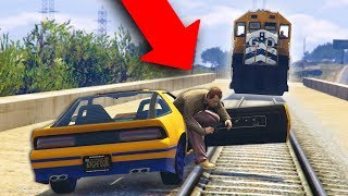 I KICKED HIM OUT OF MY CAR IN FRONT OF A TRAIN! | GTA 5 THUG LIFE #191