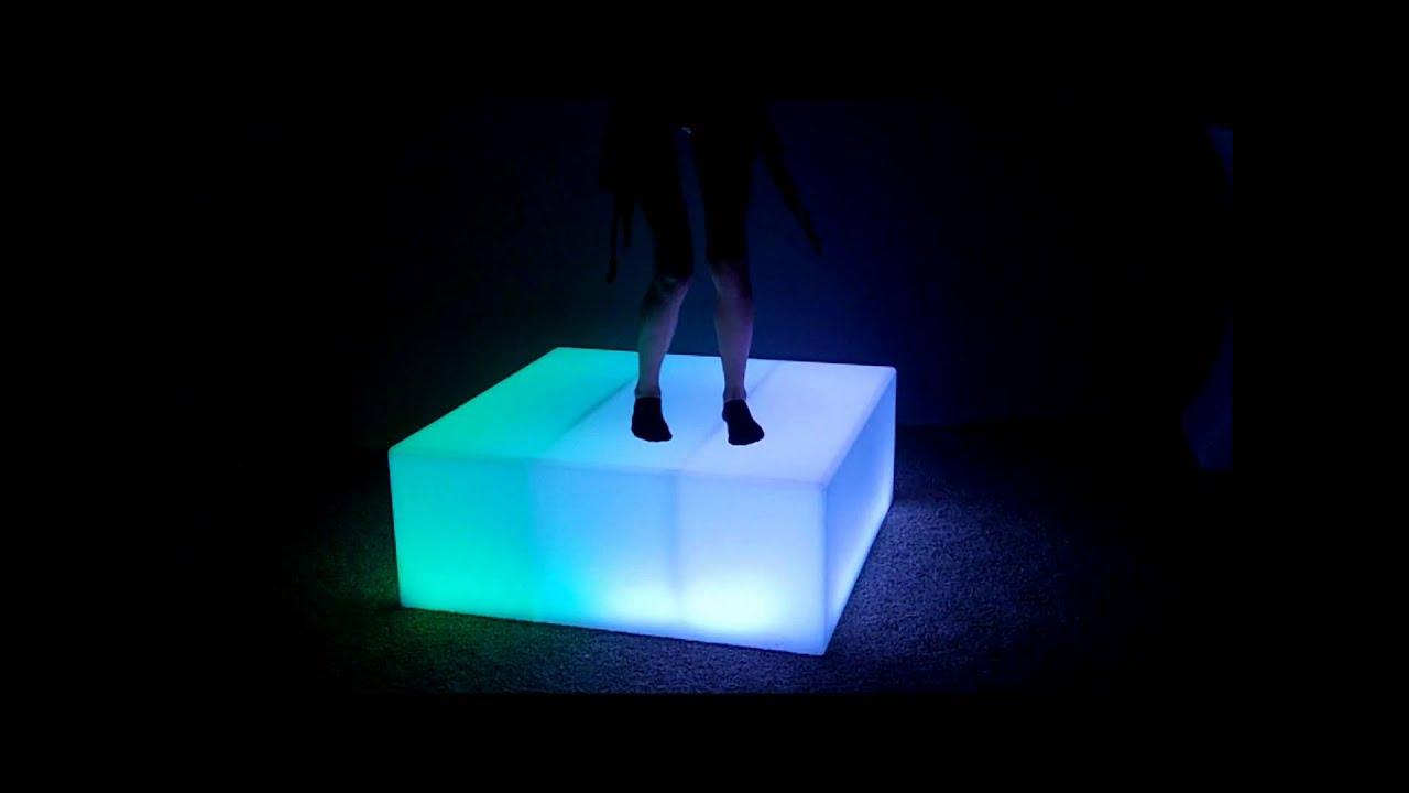Lighted Led Dance Floor Gogo Dancing Platform Youtube