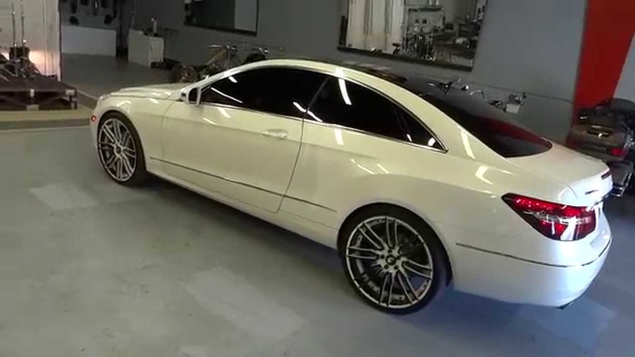 Mercedes benz e coupe on 21inch forgiato 39 s with floating for 2011 mercedes benz e350 coupe