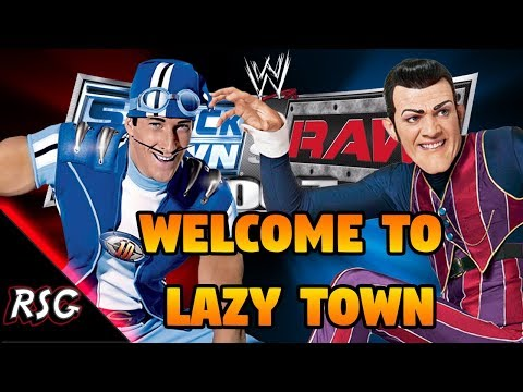 Lazy Town Robbie Rotten Vs Sportacus CAW Wrestling