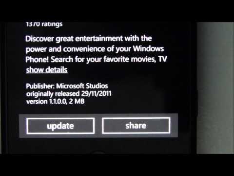 Forçando atualização de aplicativo no Windows Phone 7 Marketplace