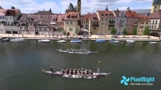 Drohnenvideo Luftaufnahmen Drachenbootrennen Kitzingen Weinfest Drohne Copter