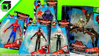 UNBOXING Spider-man INTO THE SPIDER-VERSE Toys Complete Set by HASBRO Kid Arachnid Miles Morales