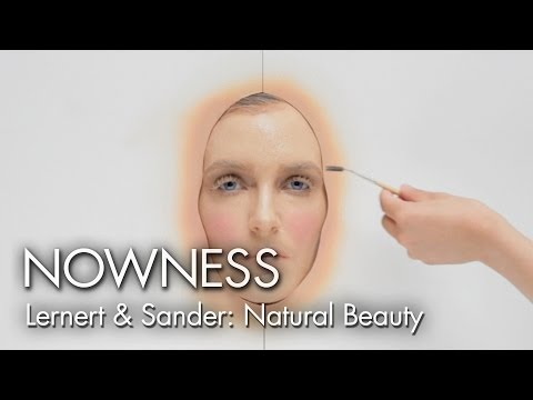 "Watch 365 layers of makeup applied in one day in ""Natural Beauty"" by Lernert & Sander"