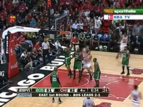 Derrick Rose game 4 highlights Boston Celtics vs Chicago Bulls 2009 NBA Playoffs