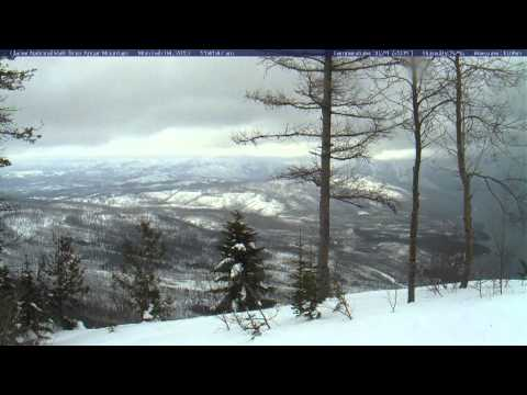 Timelapse from webcam at Glacier National Park, view from Apgar Mountain, 2013-02-05