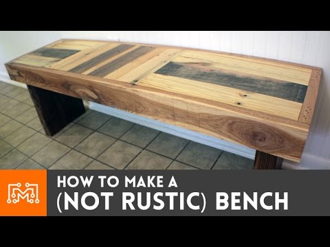 How to make a (NOT RUSTIC) bench from reclaimed pallets