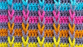 How to Crochet Jacob's Ladder Stitch - Chain Loop Braids by Naztazia