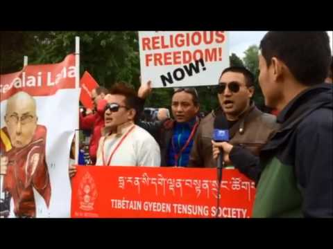 Over 500 people including over 200 Tibetans Protest against dalai lama. Netherlands