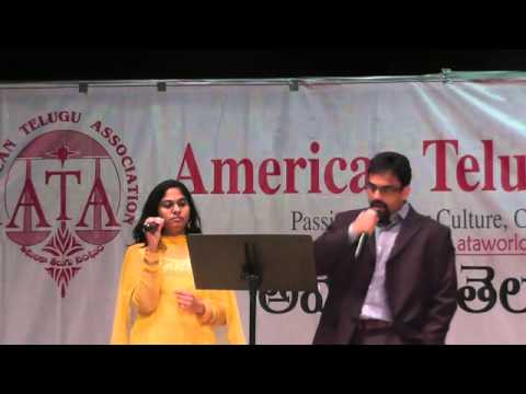 Prabhakar Kota and Ramya sing Aaja Shaam Hone Aayi at ATA fundraiser...
