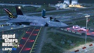 GTA 5 - LSPDFR - EPiSODE 75 - LET'S BE COPS - F-35B Lightning II PATROL (GTA 5 PC POLICE MODS) A-10A