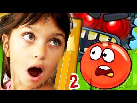 КРАСНЫЙ ШАРИК против ЗЛОГО черного КВАДРАТА игровой мультик red ball 4 видео для детей #Валеришка