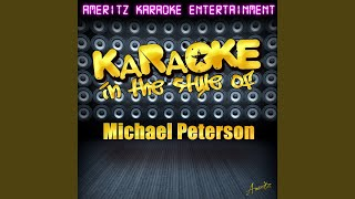 By The Book In The Style Of Michael Peterson Karaoke Version