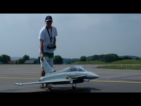 R/C Turbine Model Jet Eurofighter Typhoon German Military Look @Payerne Air-Show 2015