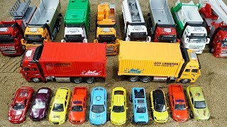 Toys Cars and Trucks Toys Videos for Kids | Toy Cars Transportation by Transporter Truck for Kids