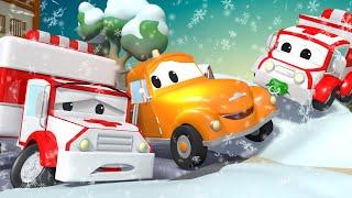 Xe tải kéo Tom -  XE CỨU THƯƠNG Amber không thể khởi động ĐỘNG CƠ - Thành phố xe 🚗 phim hoạt hình về