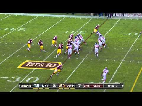 Redskins Pistol TE vs Giants