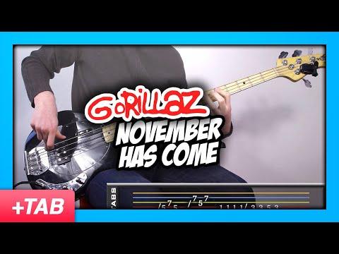 Gorillaz - November Has Come | Bass Cover + Live Tabs
