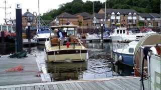 How to dock a single-engine inboard/outdrive boat stern-first