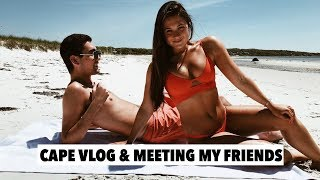 MY FIRST SUMMER VLOG ON CAPE COD: healthy breakfast, beach and meet my best friends!