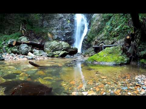 Calming Mountain Waterfall. Relaxing Water Sounds. (10 hours) White Noise for sleep.