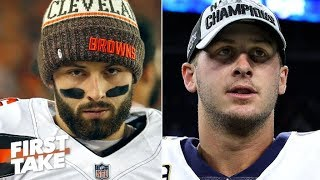 Baker Mayfield or Jared Goff: Which QB would you rather have? | First Take