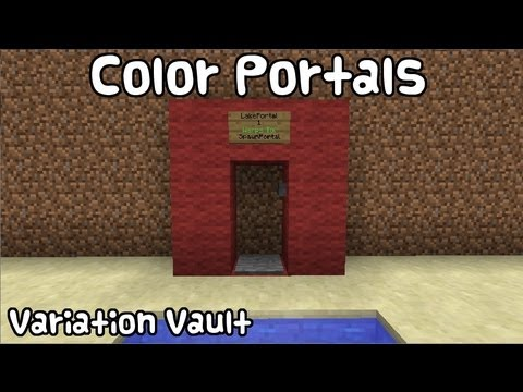 Minecraft Bukkit Plugin - Color Portals - Make portals with wool!