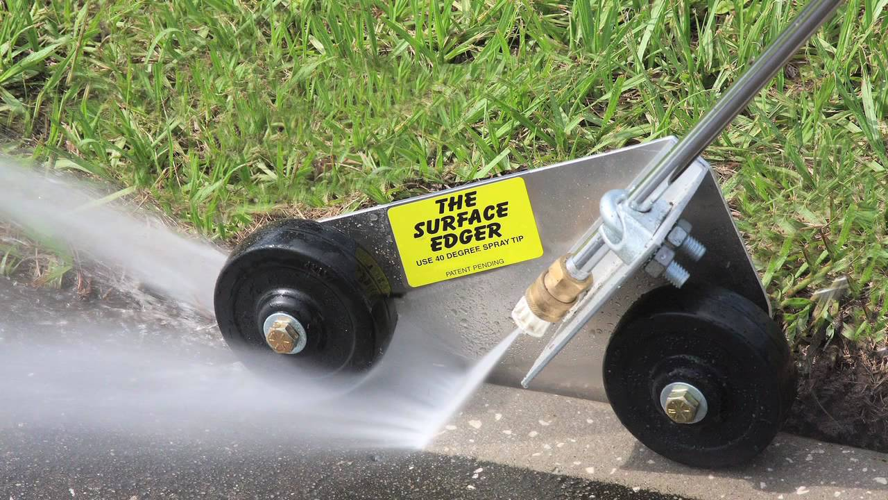 The surface edger youtube for Concrete pressure washer