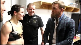 'DEMAND YOUR RESPECT! - I HAVE YOUR BACK' - CONOR McGREGOR TELLS KATIE TAYLOR AFTER WIN IN BOSTON