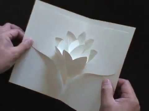 WATER LILY-Kirigami Pop-up Card, a Scrapbook Favorite