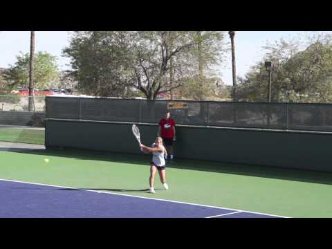 Dominika Cibulkova Forehands And Backhands In Slow Motion - BNP Paribas Open 2013