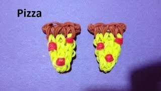 How to Make a Pizza Charm on the Rainbow Loom - Original Design