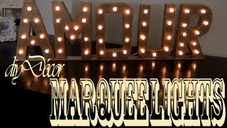 DIY Décor ♥ Marquee Lights