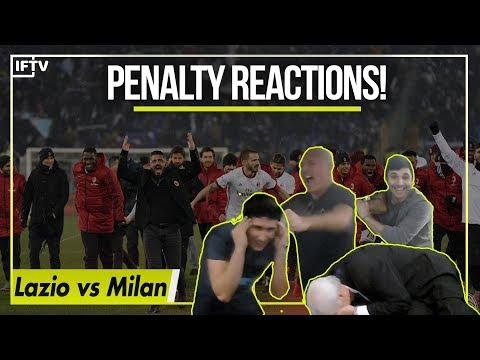 LAZIO VS AC MILAN PENALTY REACTIONS ANTONIO LOSES HIS MIND 😂  4-5 Romagnoli wins it