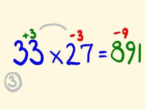Fast Mental Multiplication Trick - Multiply in your head using base 20 and 30