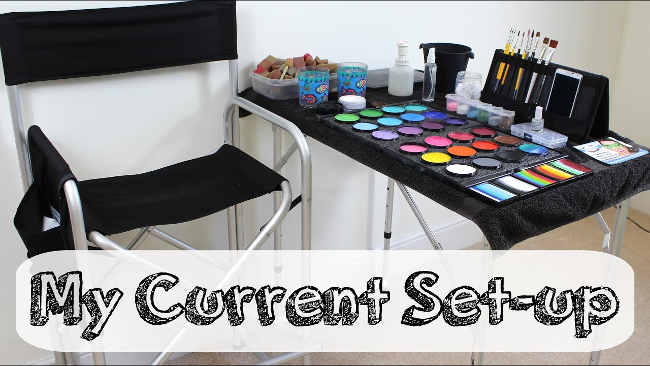 My Face Painting Set Up 2014 Youtube