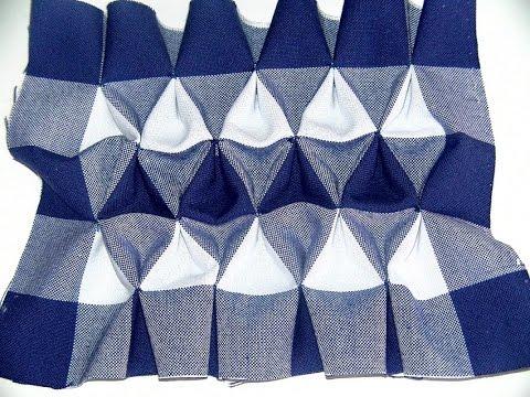 Drapeado triangulo Smocking-Triangle Smocking-Smocked Gingham