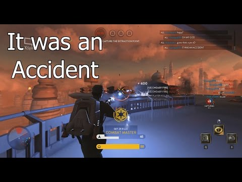 UNLIMITED SECONDARY FIRE GLITCH: It was an accident - Star Wars Battlefront