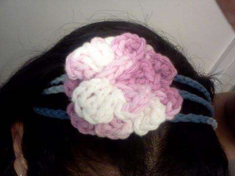 Cintillo de 3 lineas - Tutorial de tejido crochet
