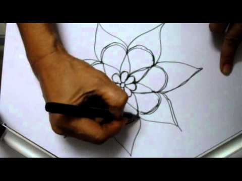 Paper Cutting Flowers Designs Flower Rangoli Design on Paper