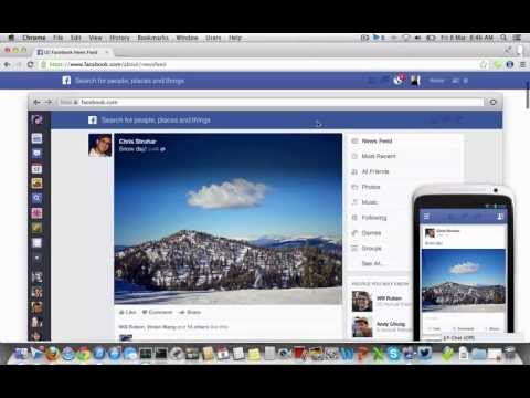 Get New Facebook Newsfeed 2013 Design