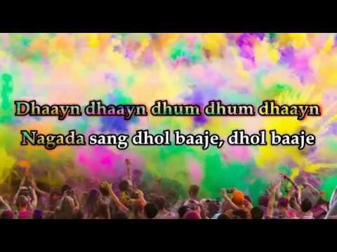 Nagada Sang Dhol Bhaje Full Song HD lyrics