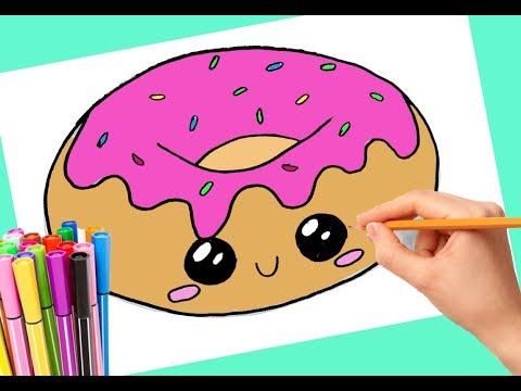 КАК НАРИСОВАТЬ КАВАЙНЫЙ ПОНЧИК/Art Colors For Kids/ How to Draw a Cartoon Donut Cute and Easy