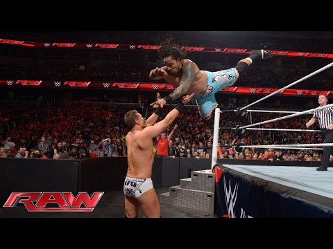 The Usos vs. Miz Mizdow – WWE Tag Team Championship Match: Raw December 29 2014